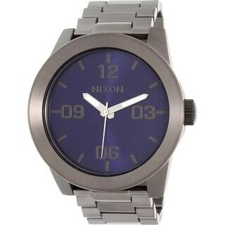 Nixon Men's Gunmetal Stainless Steel Corporal SS A3462065 Quartz Watch