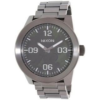 Nixon Men's Gunmetal Stainless Steel Corporal A3462069 Quartz Watch