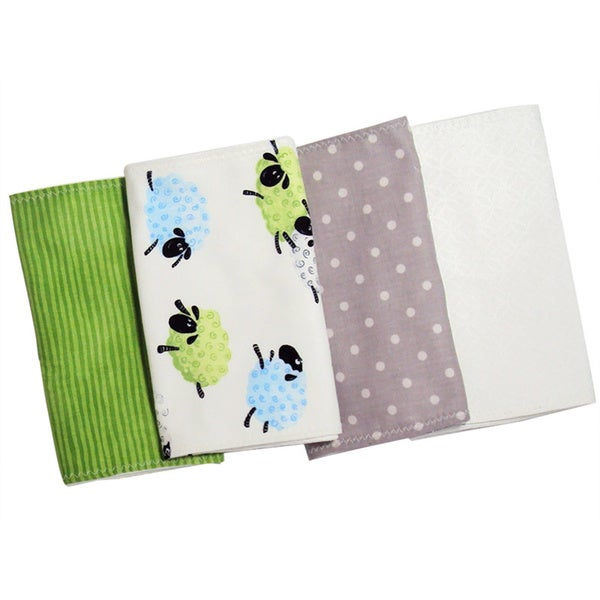 Baby Boy Sheep Burp Cloth Set (Set of 4)