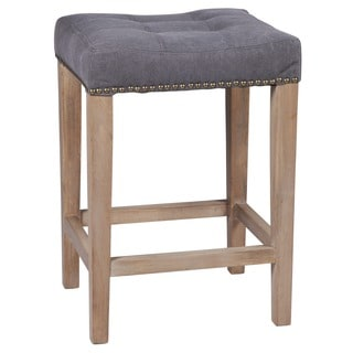 Nashville Slate Grey 26-inch Nailhead Counter Stool