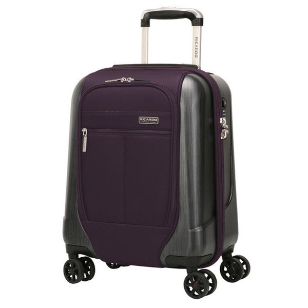 Ricardo Beverly Hills Mulholland Drive 17-Inch Expandable Carry On Spinner Upright Suitcase