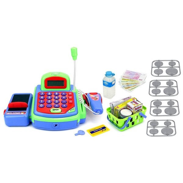 Velocity Toys My First Cash Register Battery Operated Toy Register