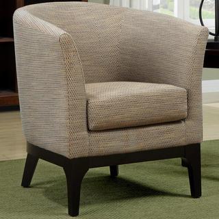 Platenik Mid Century Barrel Back Textured Woven Fabric Accent Chair
