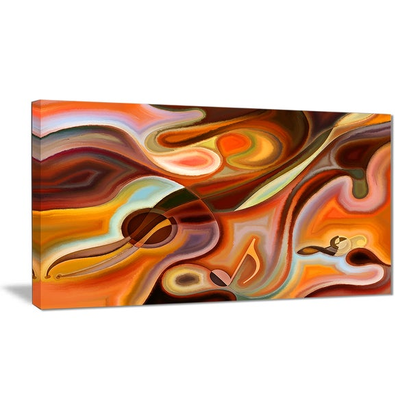 Designart - Music Dreams - Abstract Canvas Art Print
