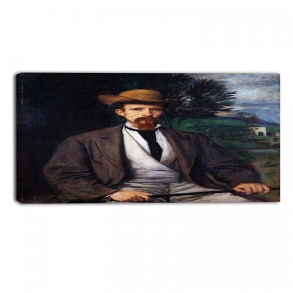 Design Art 'Hans von Marees - Self Portrait with Yellow Hat' Canvas Art Print
