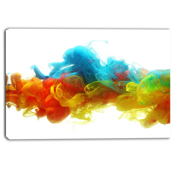 Designart - Colorful Ink in Water - Abstract Canvas Artwork