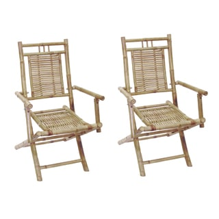 Set of 2 Bamboo Folding Arm Chairs (Vietnam)