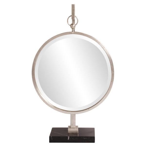 Medallion Silver Mirror Tabletop Mirror