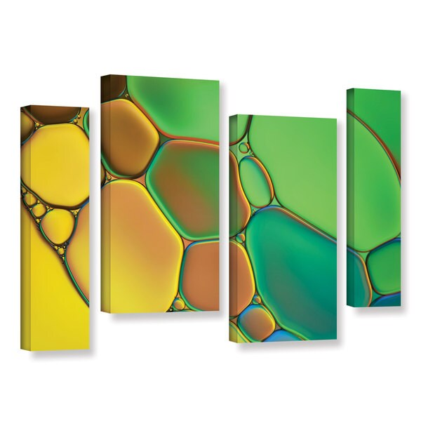 ArtWall Cora Niele's Stained Glass III, 4 Piece Gallery Wrapped Canvas Staggered Set 17470744