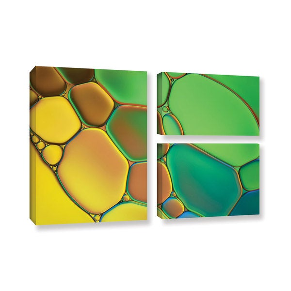 ArtWall Stained Glass III by Cora Niele 3 Piece Graphic Art on Wrapped Canvas Set 17470746