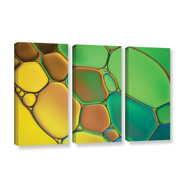 ArtWall Cora Niele's Stained Glass III, 3 Piece Gallery Wrapped Canvas Set - Multi 17470748