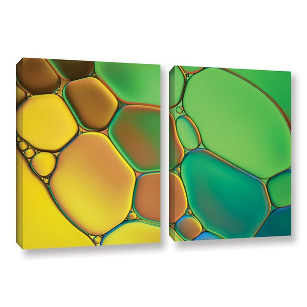 ArtWall Cora Niele's Stained Glass III, 2 Piece Gallery Wrapped Canvas Set 17470749