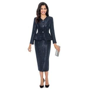 Giovanna Signature Women's Abstract Print Skirt Suit