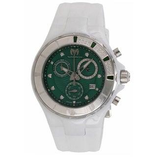 TechnoMarine Ceramic Women's Cruise Green Dial Watch