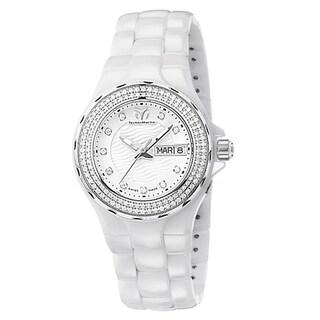 TechnoMarine Cruise Ceramic Women's White Dial Dress Watch
