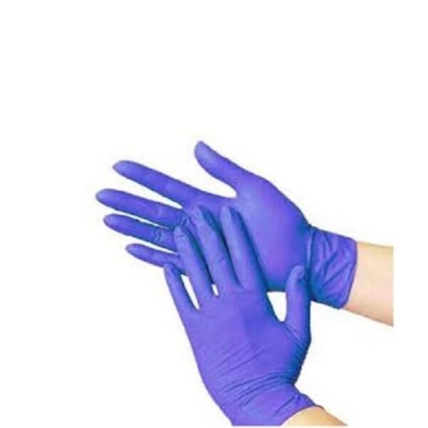 Box of 100 Blue Nitrile Medium Powder-free Disposable Gloves