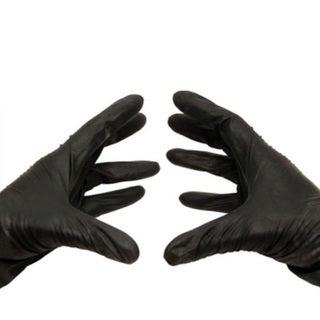 500 Black Nitrile Xlarge Powder-free Disposable Gloves 3.5 Mil