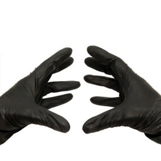 Black Nitrile Disposable Powder-free Large Glove Latex Free 100 Per Box 3.5 Mil