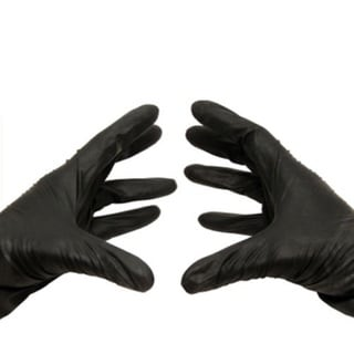 500 Black Nitrile Large Powder-free Disposable Gloves 3.5 Mil