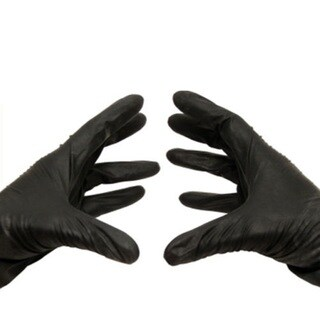 Black Nitrile Disposable Powder-free Xxlarge Glove Latex Free 100 Per Box 3.5 Mil
