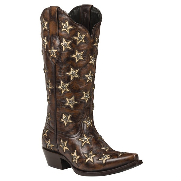 Black Star Leather Brazos Brown Boots