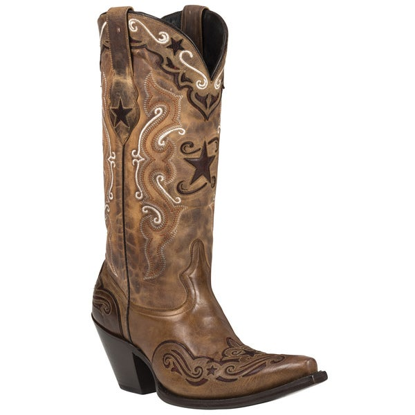 Black Star Leather Starr Brown/ Red Boots