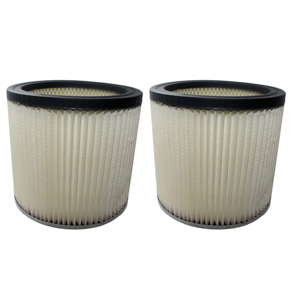 2 Shop-Vac Dry Wet Cartridge Filters, Compare to Part # 90304 17471890