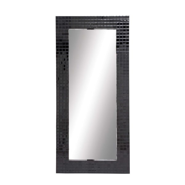 Black Glass Wall Mirror
