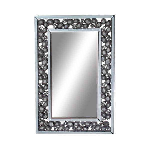 Black Stone Wall Mirror