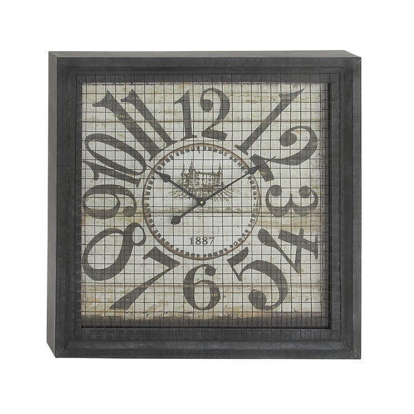 Square Box Wall Clock