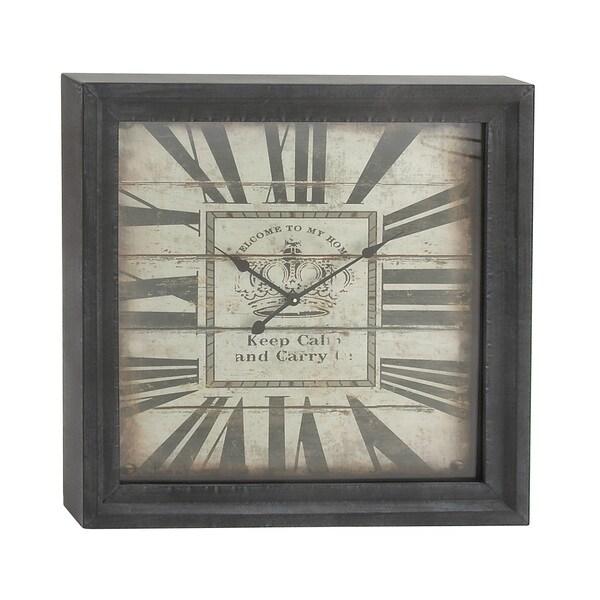 Black Square Box Wall Clock