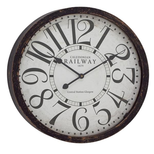Trailway Round Clock