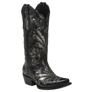 Black Star Leather Zavala Black Boot