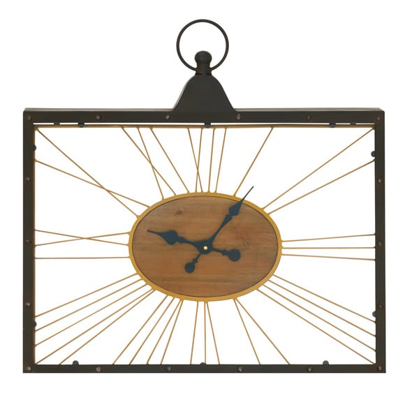 Rectangular Glass Clock