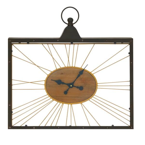 Rectangular Glass Clock