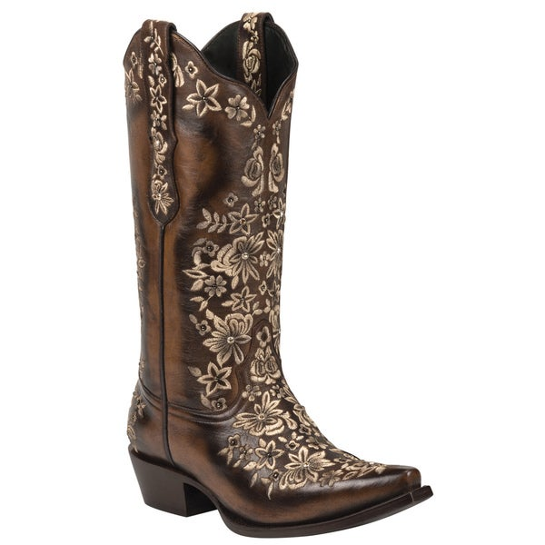 Black Star Leather Sweetgrass Brown/ Cream Boot