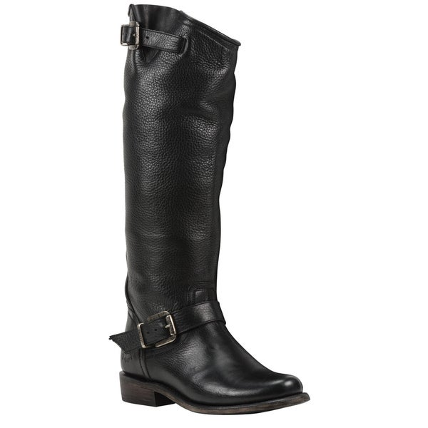 Black Star Leather Virgo Black Boot