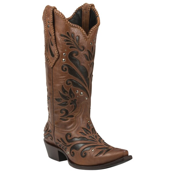 Black Star Leather Zavala Brown Boot