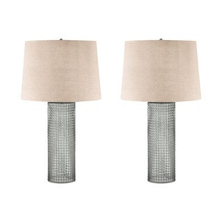 Glass and Wire Table Lamps (Set of 2)