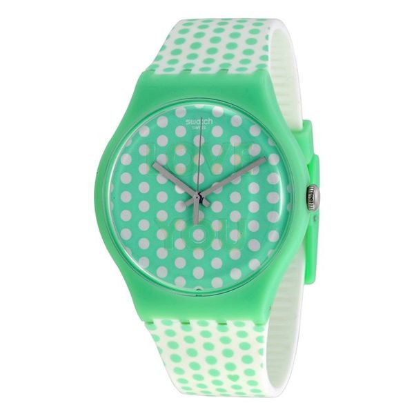Swatch Unisex SUOG108 'Originals Mint Love' White Silicone Watch