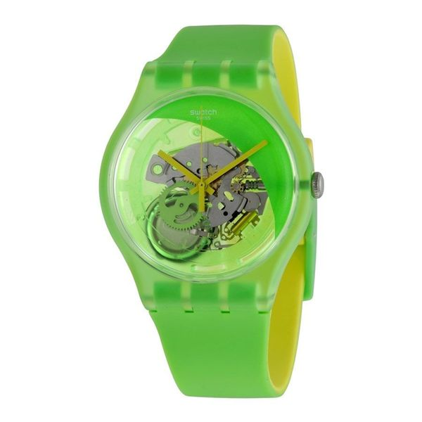 Swatch Unisex SUOG110 'Originals Pomme Tech' Green Silicone Watch