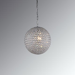 Gertrude 3-light Crystal 12-inch Chrome-finish Chandelier