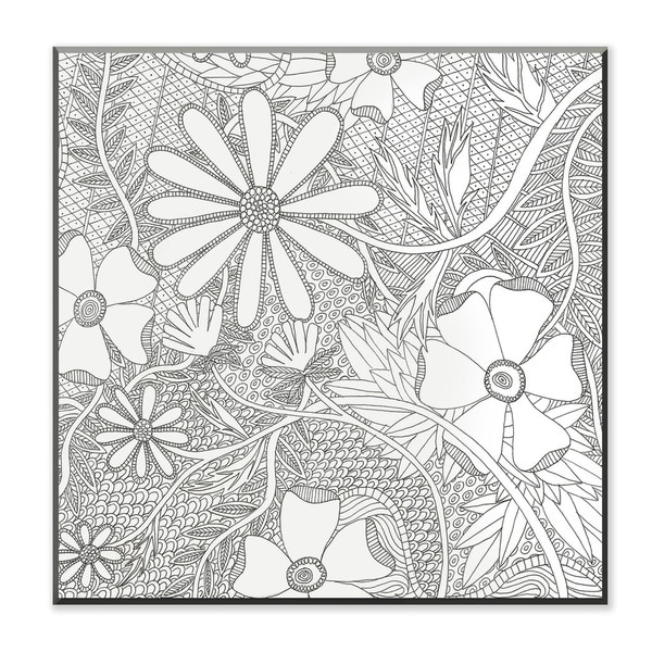 Wild Daisy DIY Coloring Wall Plaque