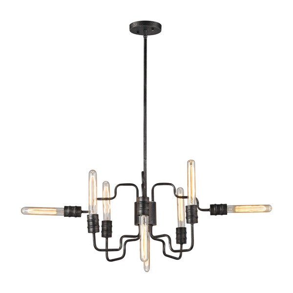 Elk Transit 8-light LED Chandelier in Silvered Graphite
