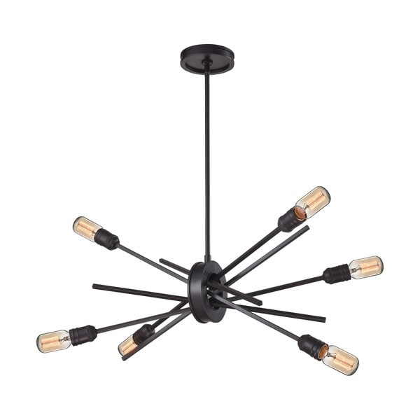 Elk Xenia 6-light LED Chandelier in Oil Rubbed Bronze