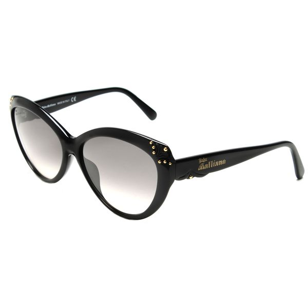 John Galliano JG0093s Black Plastic Cat Eye Sunglasses