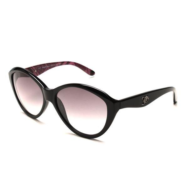 John Galliano JG0059s Black Plastic Cat Eye Sunglasses