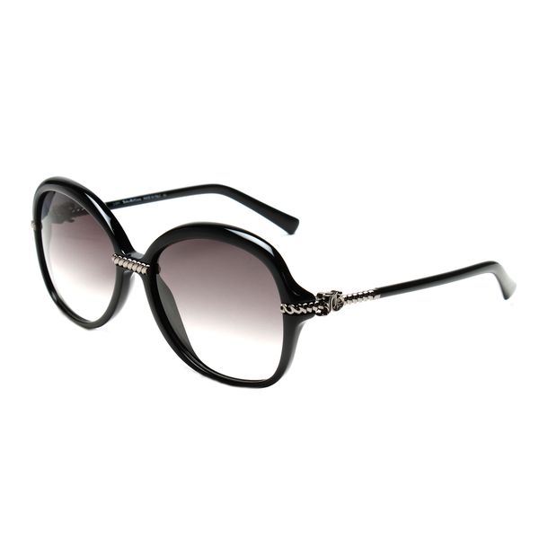 John Galliano JG0056s Black Plastic Oversized Frame Sunglasses