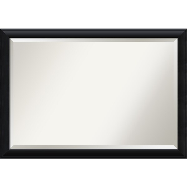 Nero Black Wall Mirror - Extra Large' 39 x 27-inch