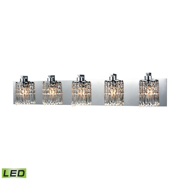 Elk Optix 5-light  LED Vanity in Polished Chrome 17474818